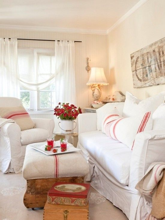 I Love This Red And White Living Room From Tumbleweed Dandelion On Houzz
