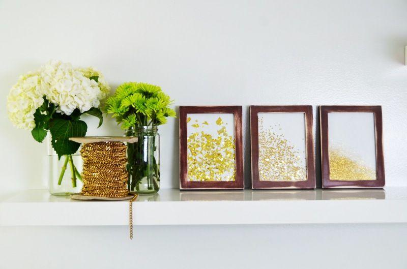 DIY framed glitter | Diy frame, Craft and Diy wall art