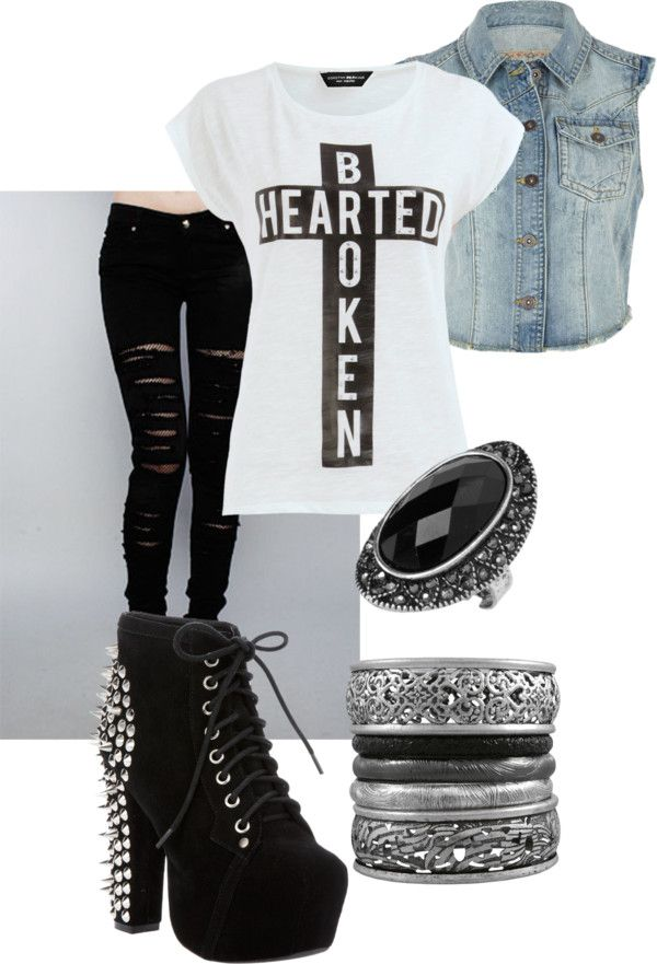 """Broken Hearted"" by rararaigan on Polyvore"
