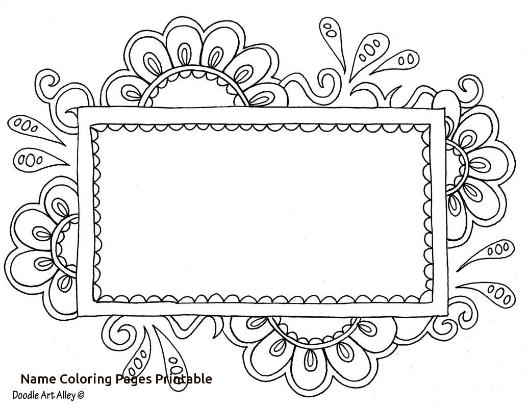Name Templates Coloring Pages Doodle Art Alley With Name Coloring Pages Printable