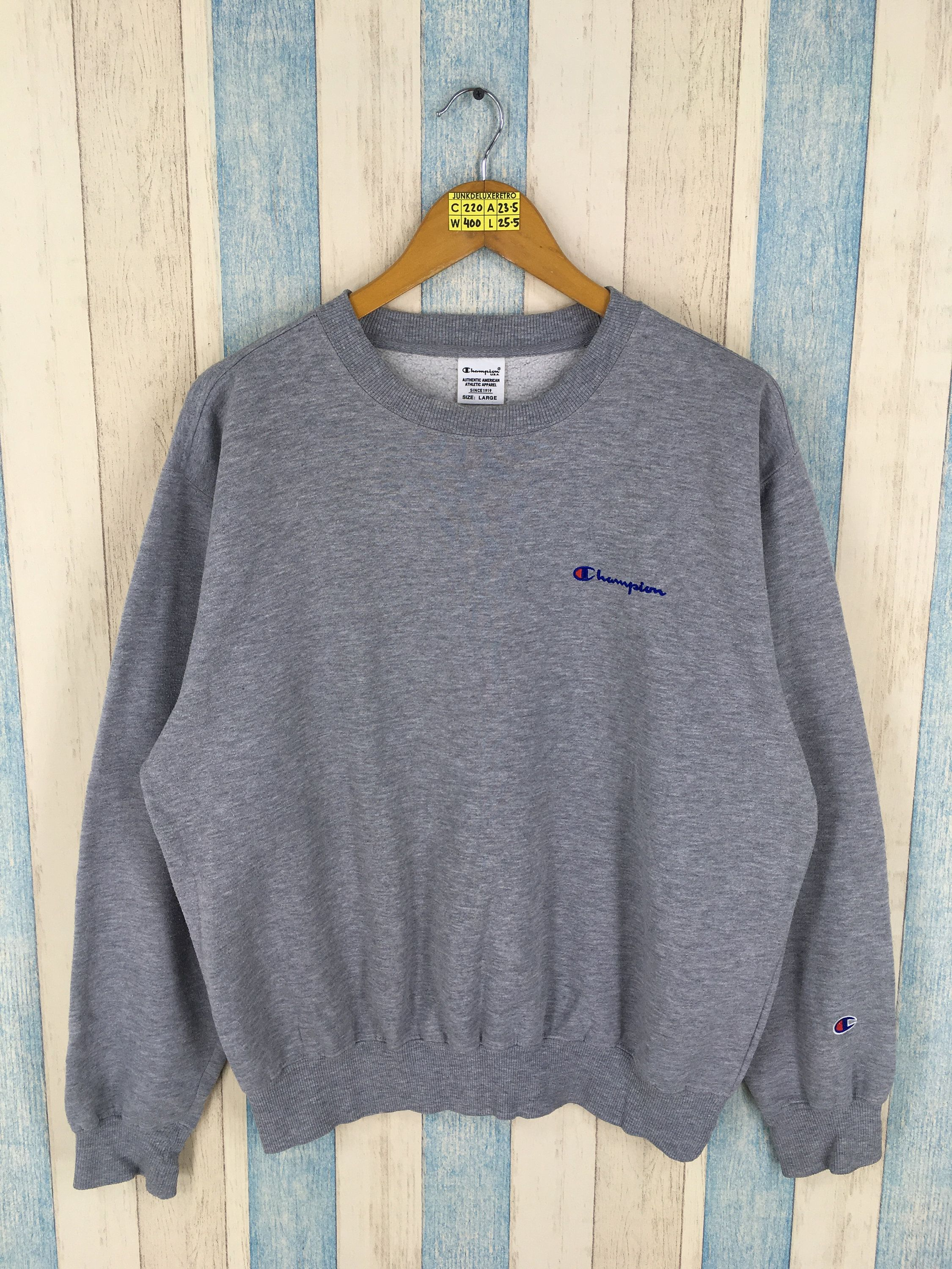 Champion Pullover Jumper Large Unisex Vintage 1990 S Champion Athletic Apparel Usa Streetwear Sports Crewneck Sw Champion Pullover Champion Sportswear Pullover [ 3000 x 2250 Pixel ]