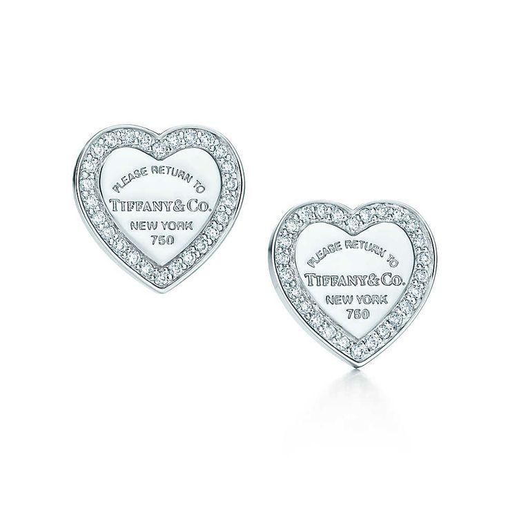 Tiffany Heart Earring Tiffany Co White Gold 16324 Pico