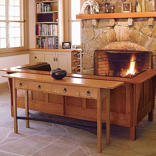 Fine Woodworking Arts Crafts Sofa Table Plan Furniture