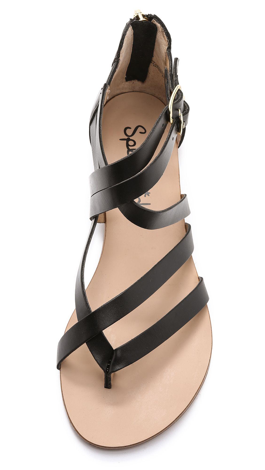 Splendid Caddie Back Zip Grecian Sandals
