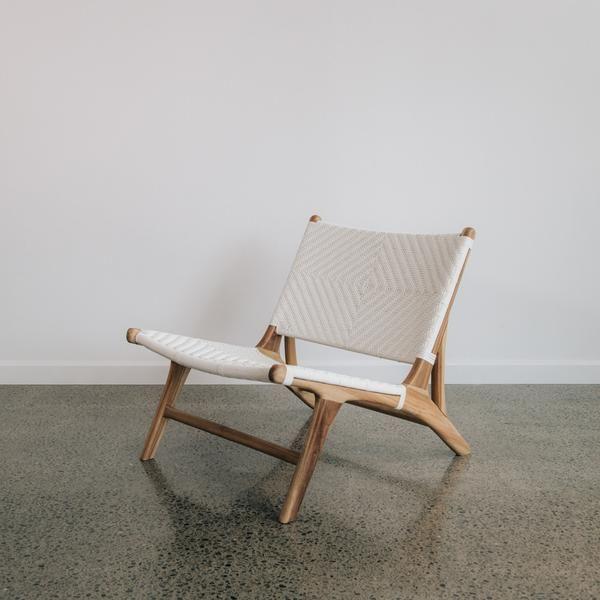 Wunderbar White Polyrattan Occasional Chair