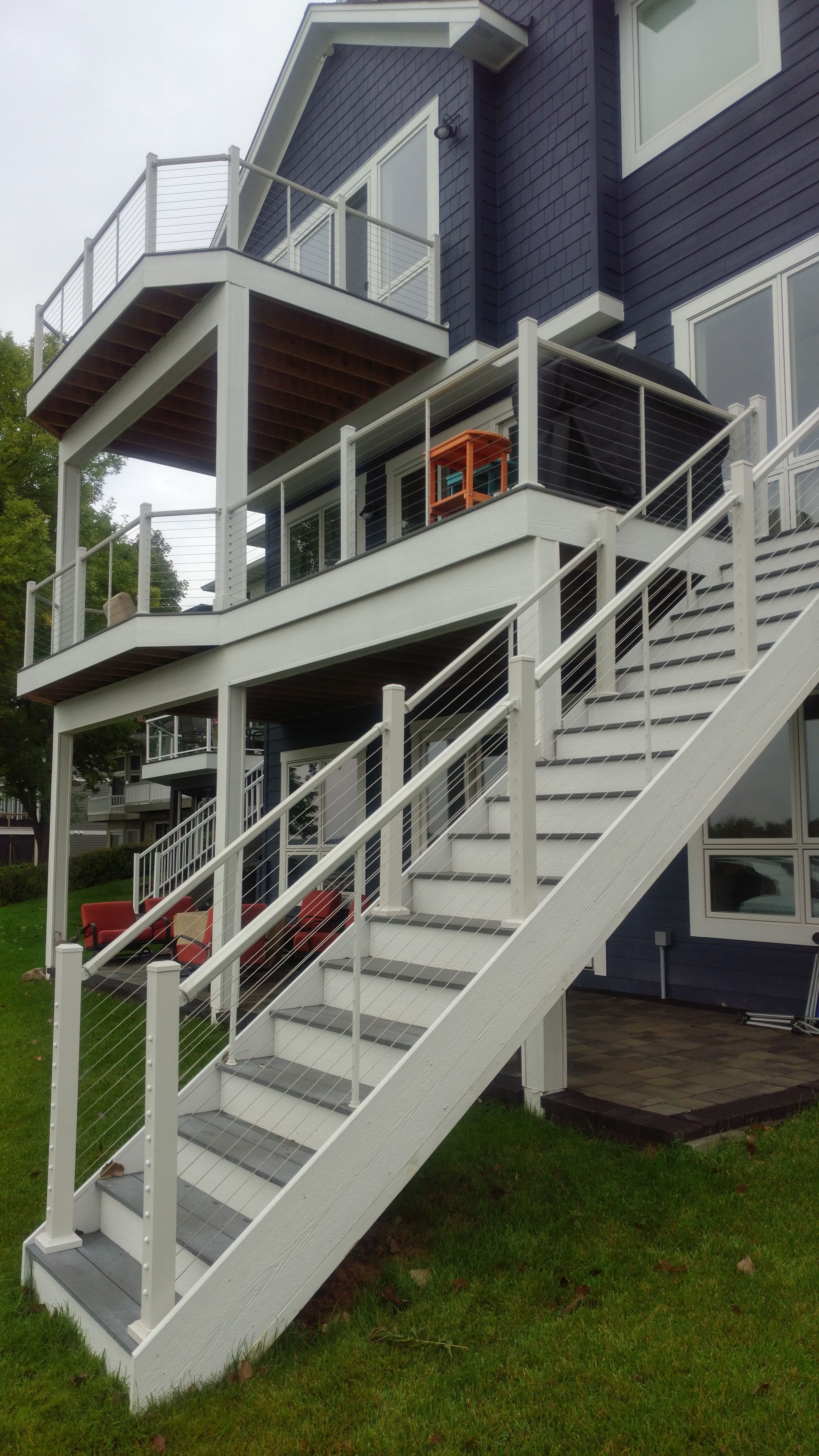 Although We Consider The Deck Fence As A Safety Function Some People Choose The Deck Railing As One Of The Patio Deck Designs Cable Railing Deck Deck Railings