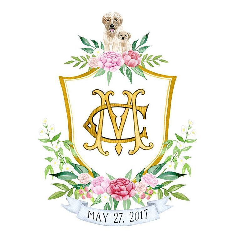 Lana Dreams Watercolor Wedding Crest Wedding Crest Watercolor