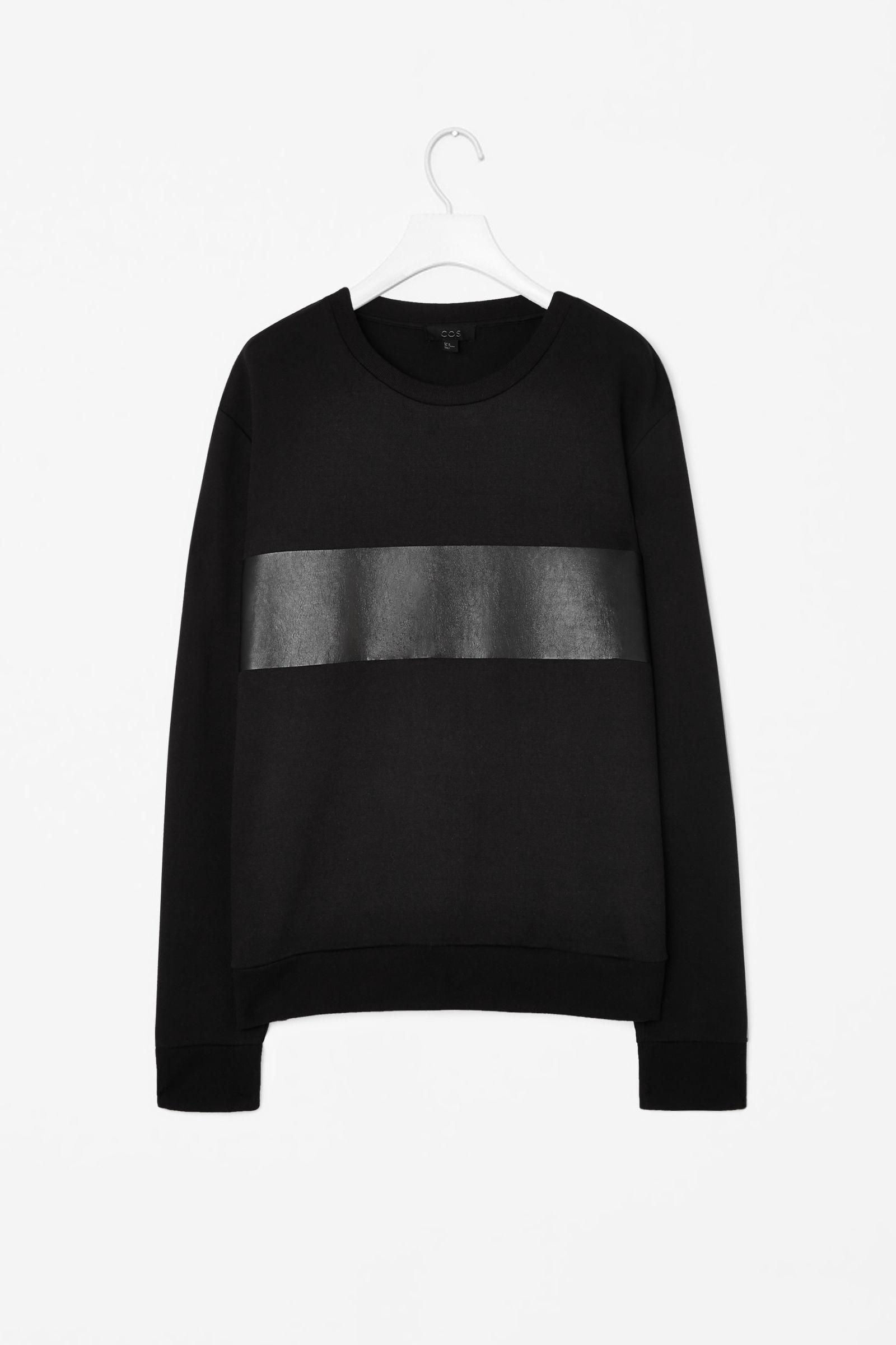 COS leather panel sweatshirt   MENS MOOD   Sweatshirts, Men sweater ... 01e8d2427b0