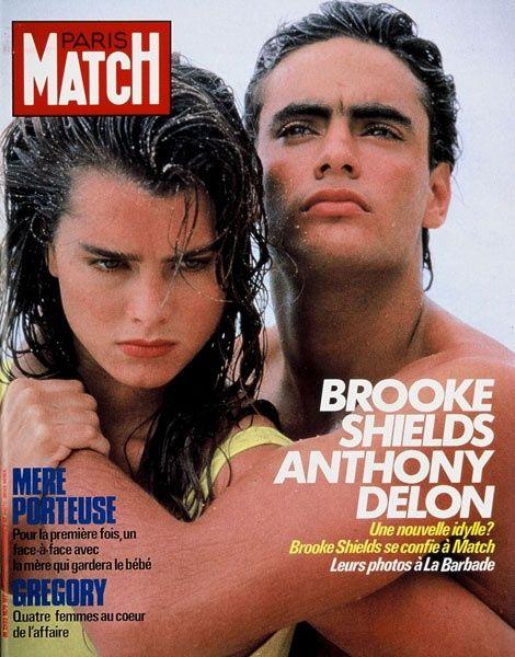 Anthony Delon Brooke Shields 1985 Brooke Shields Brooke Anthony