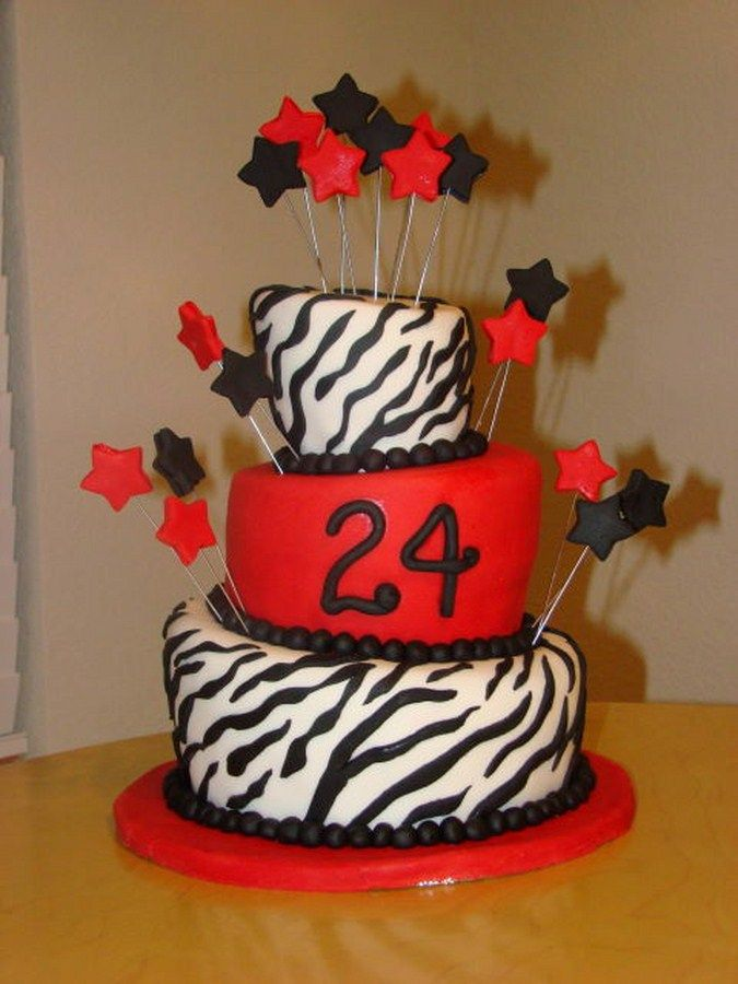 Cake Decoration Ideasbirthday Cake 24 Years Cake Decoration Ideas