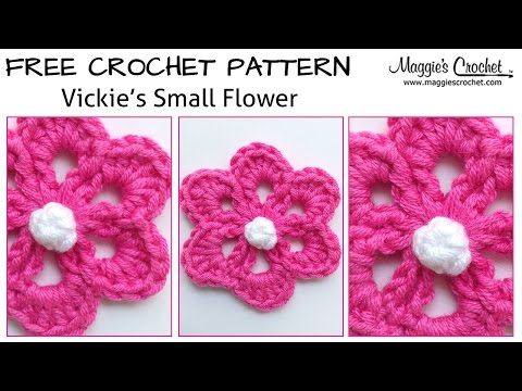 Vickies Small Flower Free Crochet Pattern Right Handed Youtube