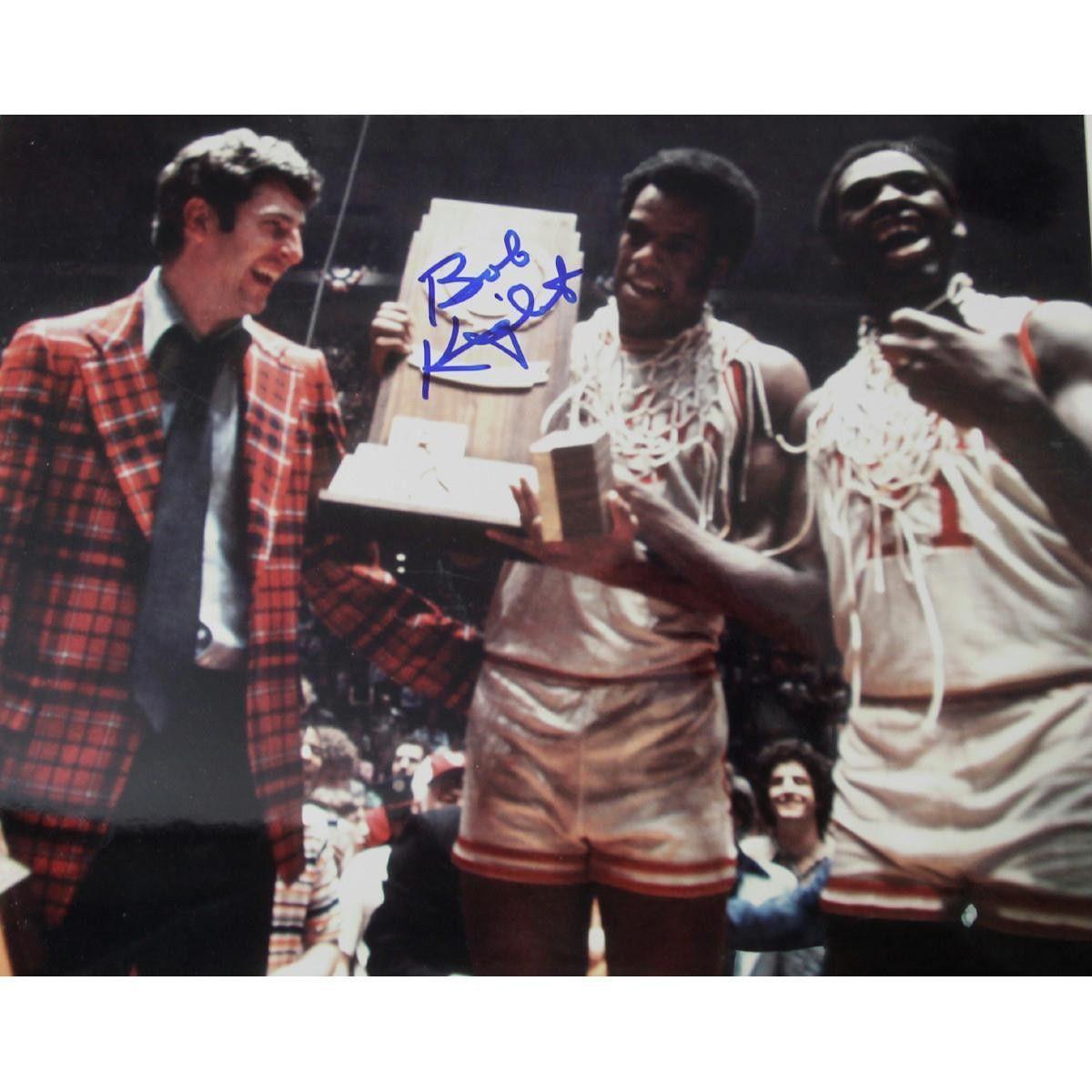 Bob Knight Signed 8x10 W Trophy Bob knight, Coach of the