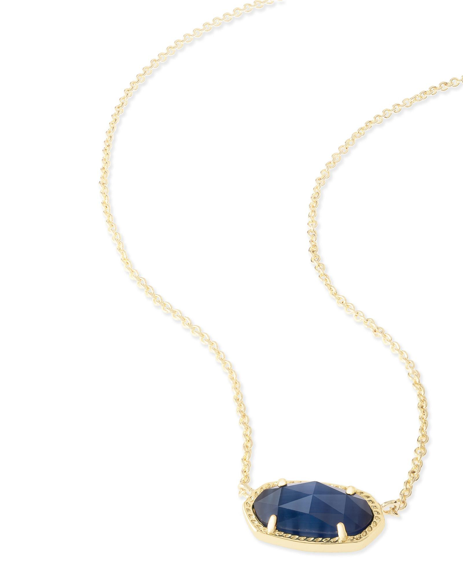Shop gold pendant necklaces at kendra scott with a dainty navy blue