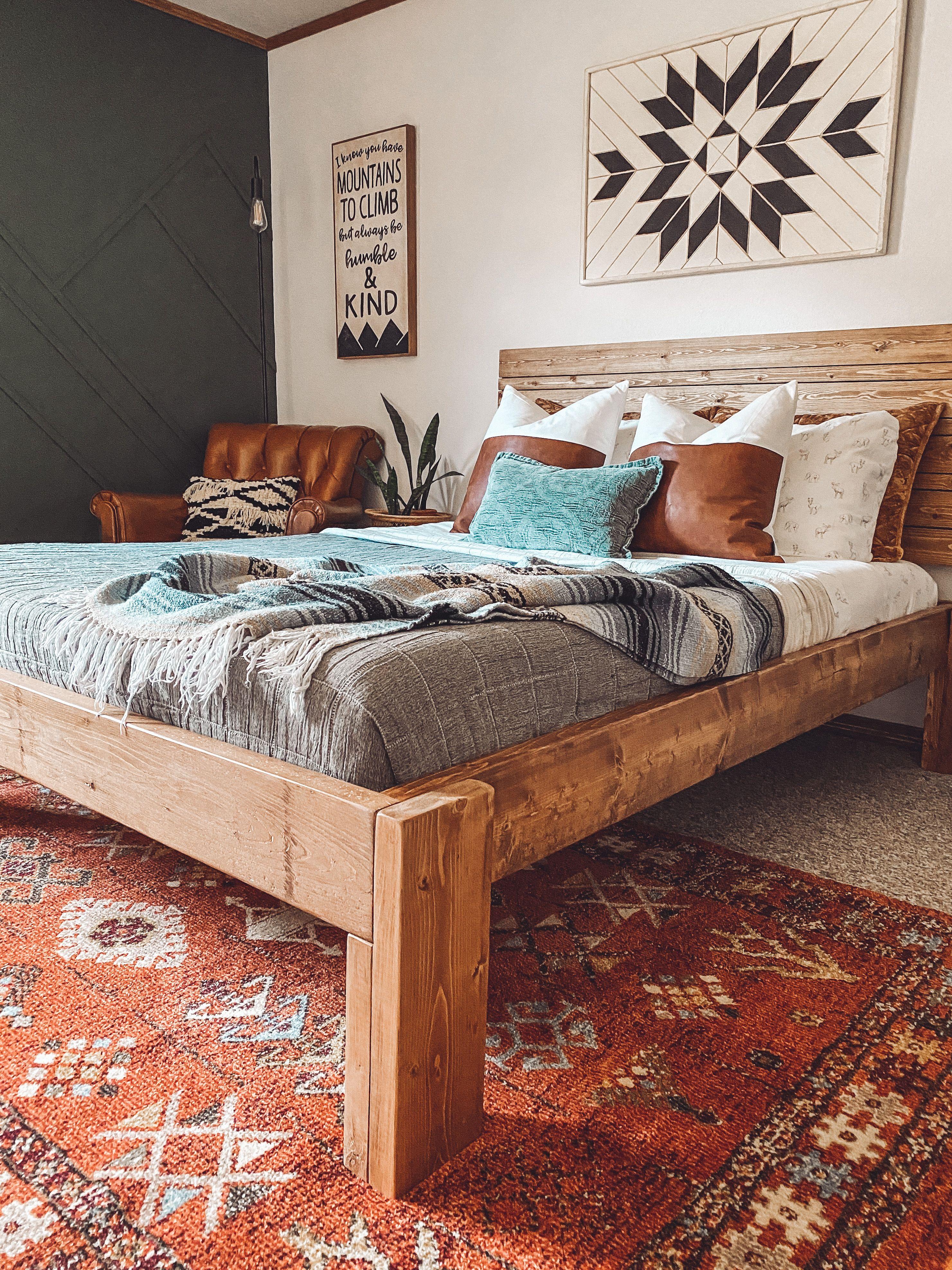 Modern Mountain Bedroom - One Room Challenge Reveal