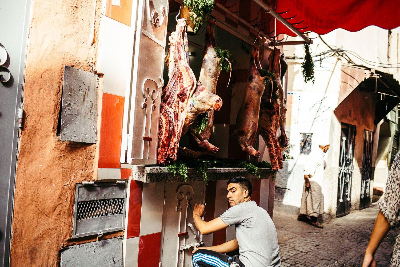 MEDINA FRESH MEAT - MARRAKECH, MOROCCO - AFRICA, TRAVEL REPORTAGE by MANUEL PALLHUBER - WWW.MANUELPALLHUBER.COM