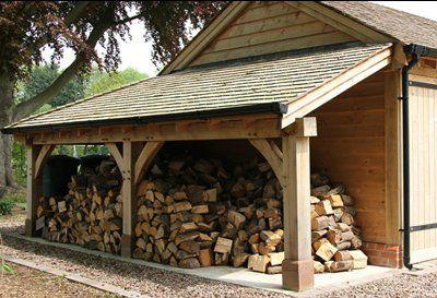 oak log store - sherwood oak #firewoodstorage