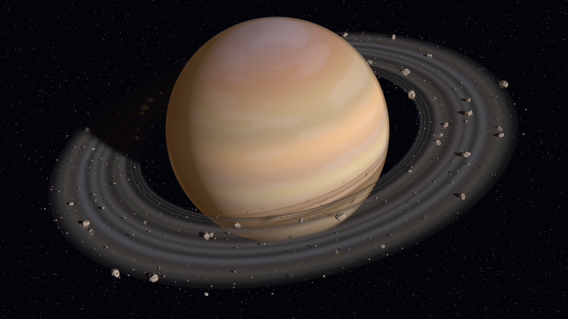 Saturn is the sixth planet from the Sun and the second ...