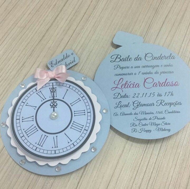 Cenicienta invitacion Sweet 15 Pinterest Sweet 16 Birthdays