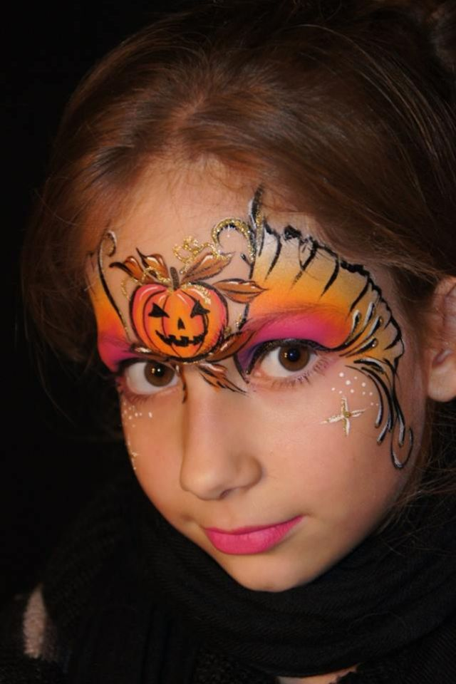 happy halloween face paint model kinderschminken. Black Bedroom Furniture Sets. Home Design Ideas