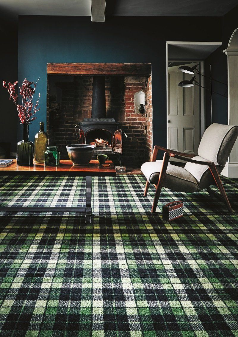 Inspired by Ireland Patterned carpet, Retro living rooms