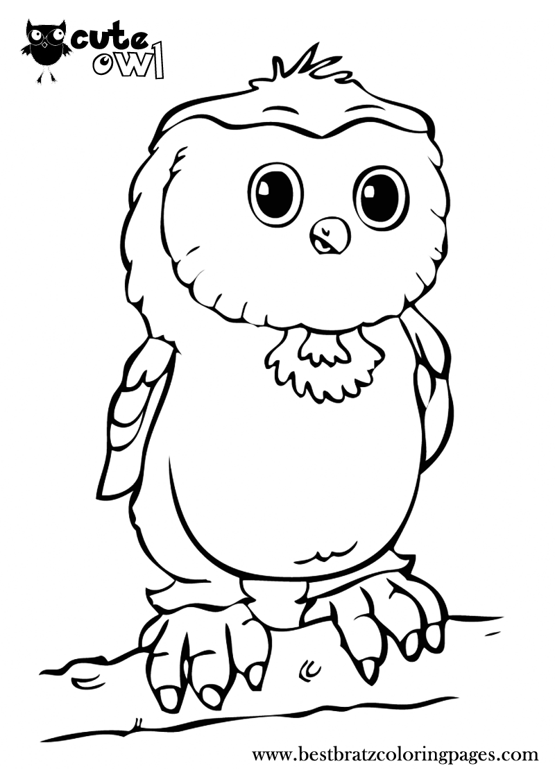 Cute Owl Coloring Pages | Bratz Coloring Pages | Coloring ...