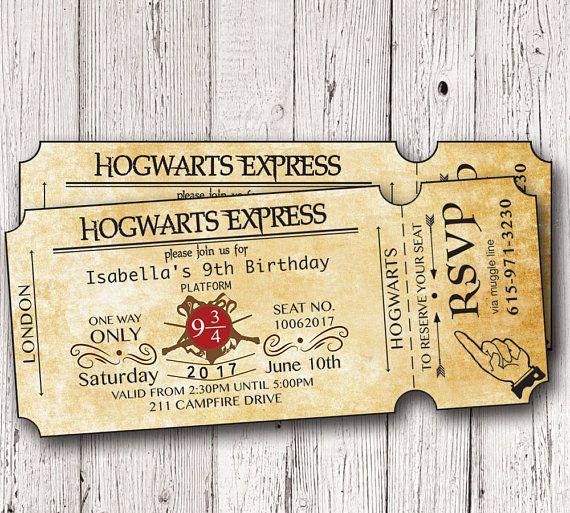 Harry potter birthday invitation hogwarts birthday invitation harry potter birthday invitation hogwarts birthday filmwisefo