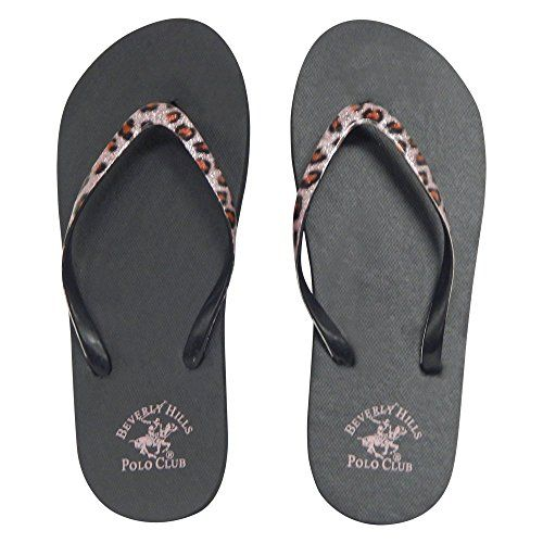 6c9d085e7 Beverly Hills Polo Club Leopard Womens Flip Flop Sandal Thong 8 US Pink *  Learn more by visiting the image link.