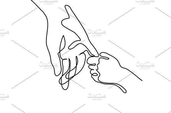 Baby Holding Finger Of Adult Hand By Valenty On