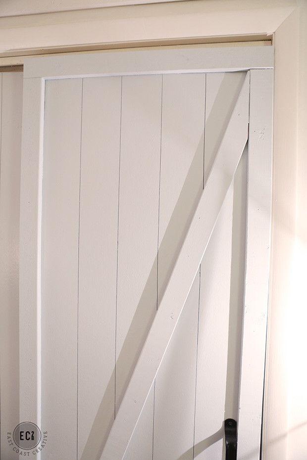 Diy Faux Barn Doors Hollow Core Door Makeover Door Makeover Diy Bifold Doors Makeover Door Makeover