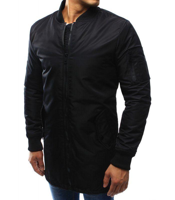 Pánska čierna predĺžená bunda  f38522a1e16