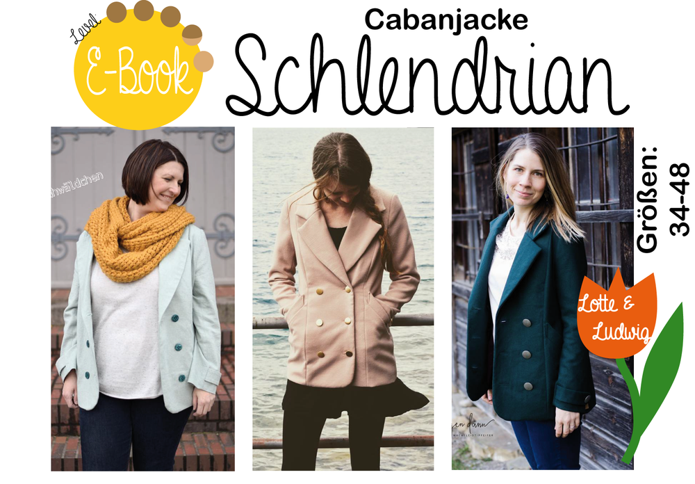 Nähanleitungen Mode E Book, Cabanjacke Schlendrian Gr.34