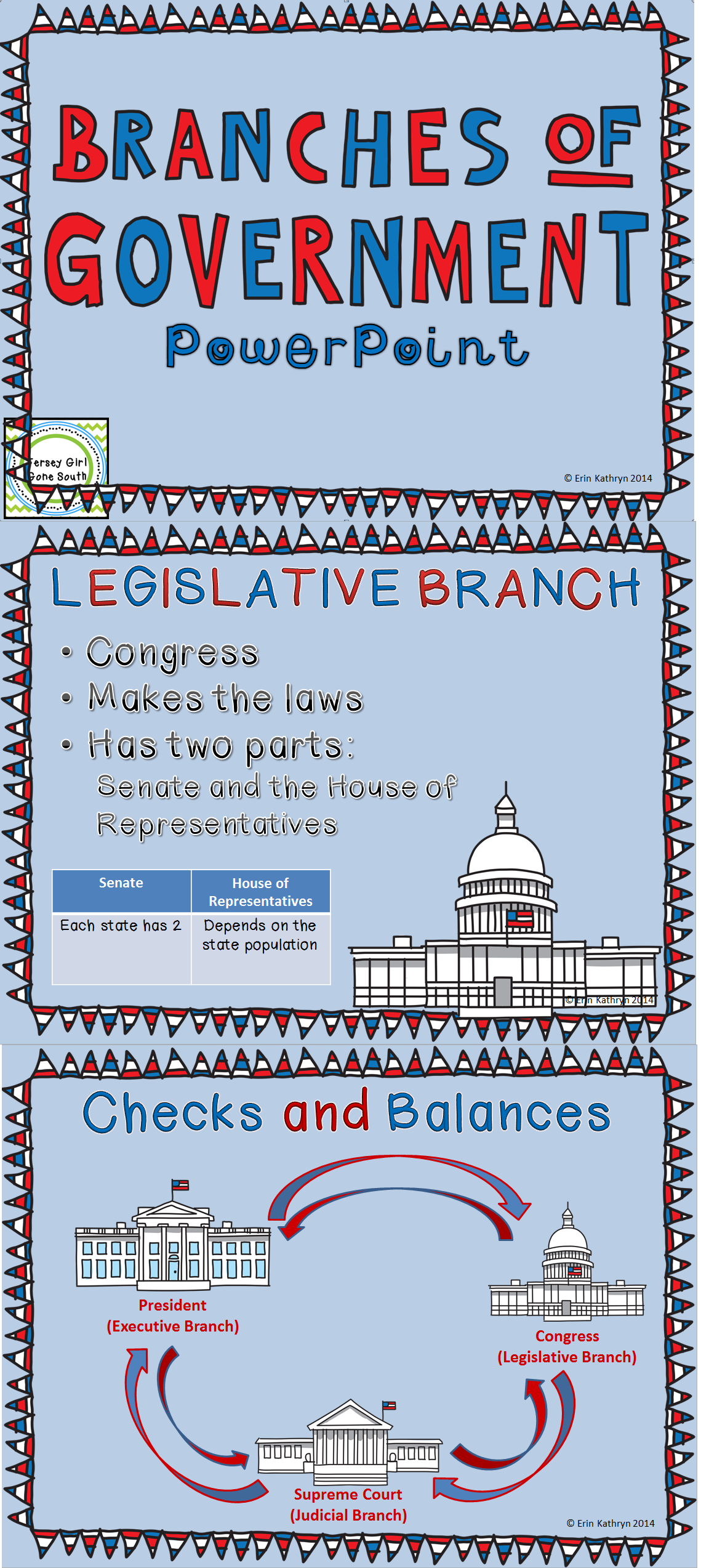 Three Branches Of Government Powerpoint And Foldable