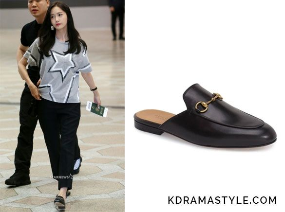 Yoona Wears Black Gucci Loafers At Airport Kdramastyle Gucci Loafers Wearing Black Loafers