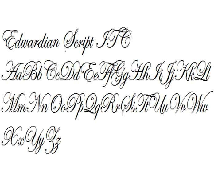 Edwardian Script Itc Lettering Fonts Lettering Styles Beautiful Lettering