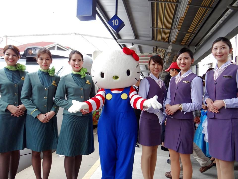 EVA Air flight attendants and Taiwan Transit Admin. with