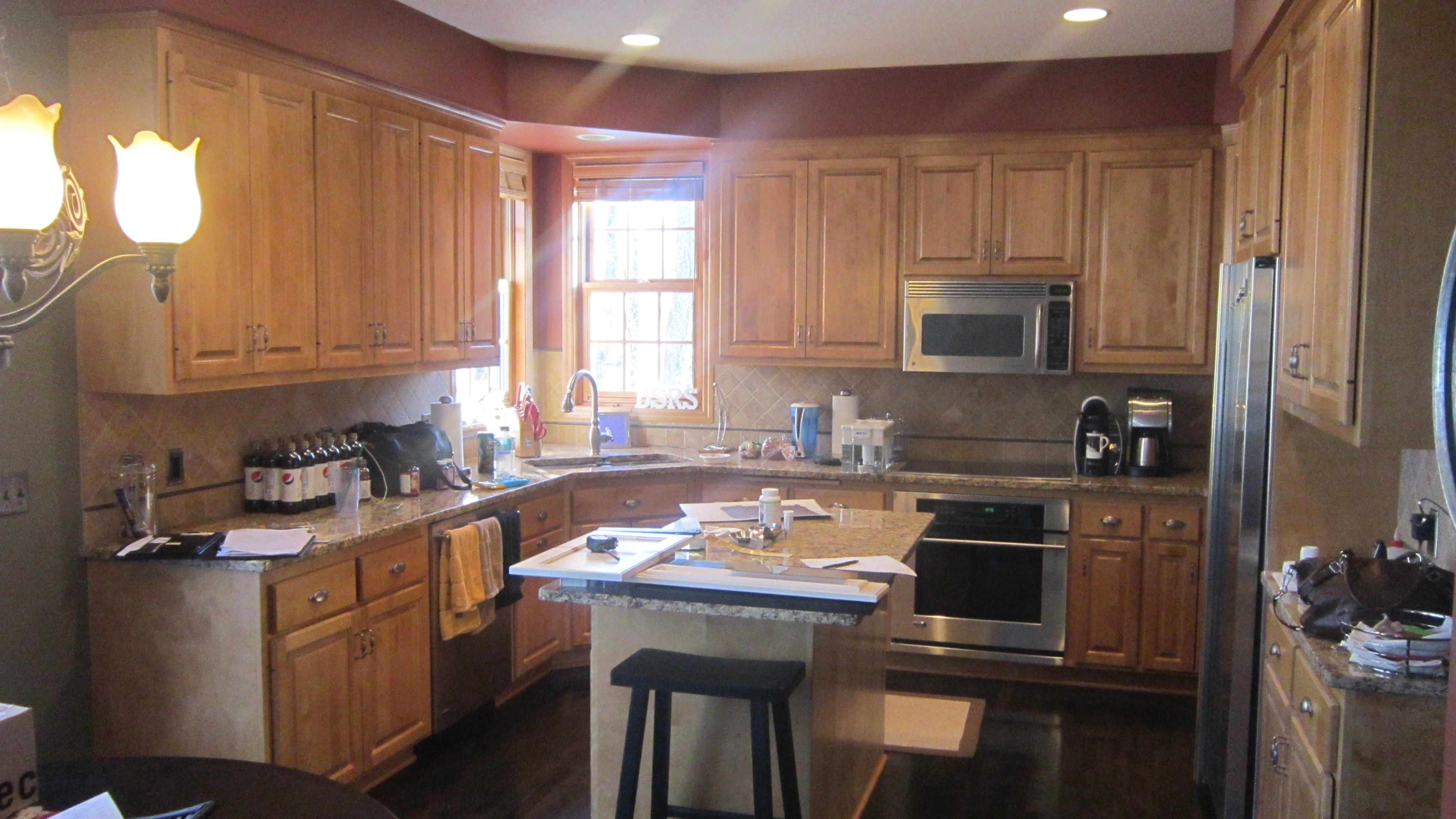 Before Shot: Cabinet Refinishing!   Kitchen remodel ...