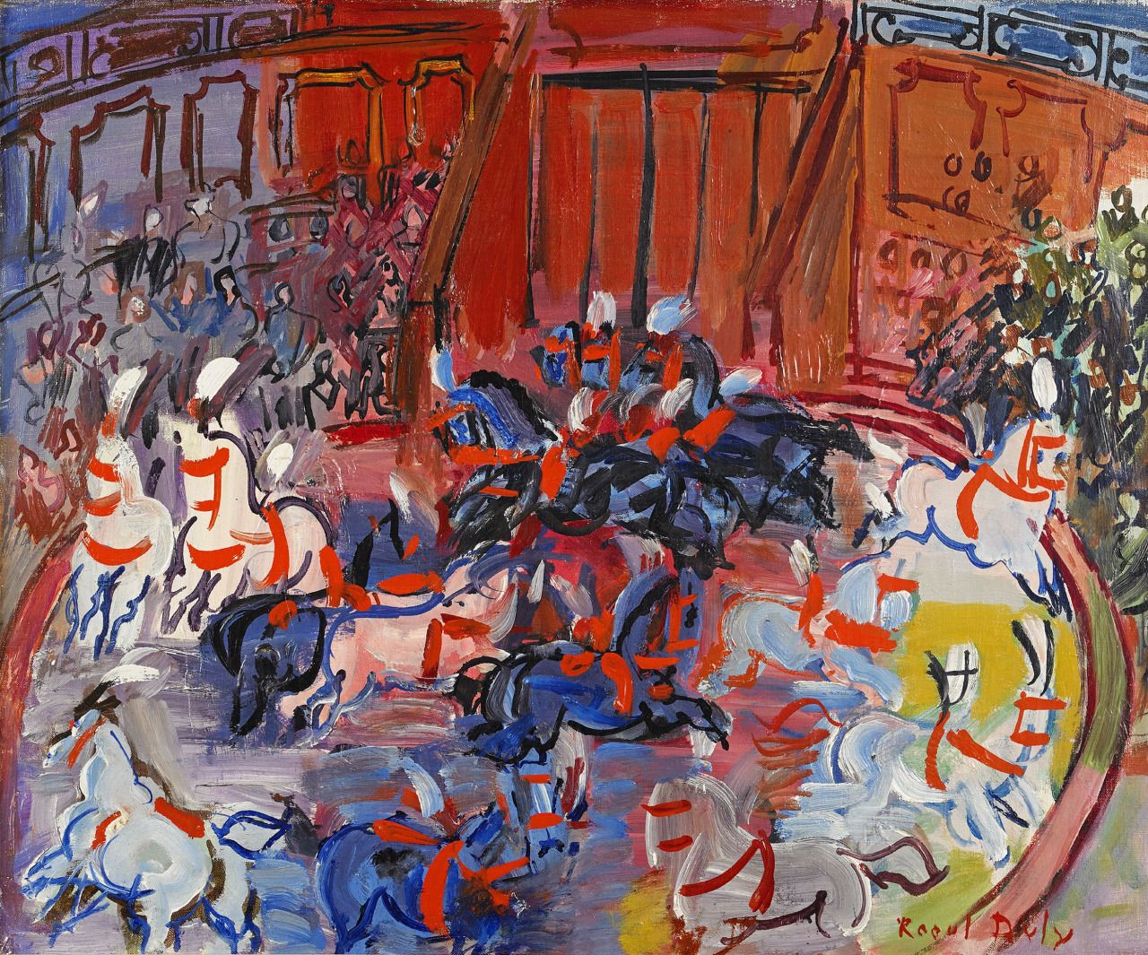 le-cirque-chevaux-en-piste-the-circus-horses-in-the-ring-1931-by-raoul-dufy