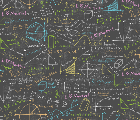 A Whole Chalkboard Of Colorful Equations Includes Formulas And Drawings From Algebra Geometry Trigonometry Calculus Linear