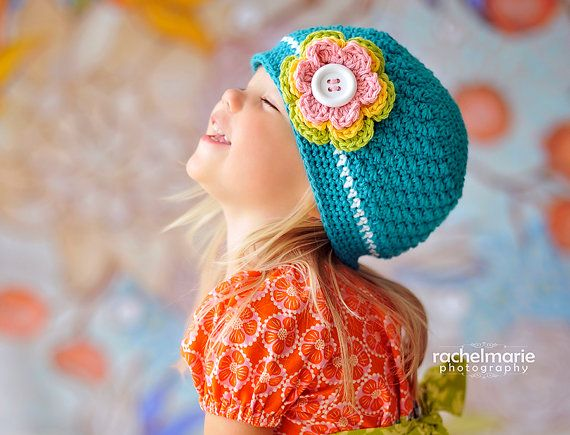 Hey, I found this really awesome Etsy listing at http://www.etsy.com/listing/164507897/girls-crochet-hat-with-flower-beanie