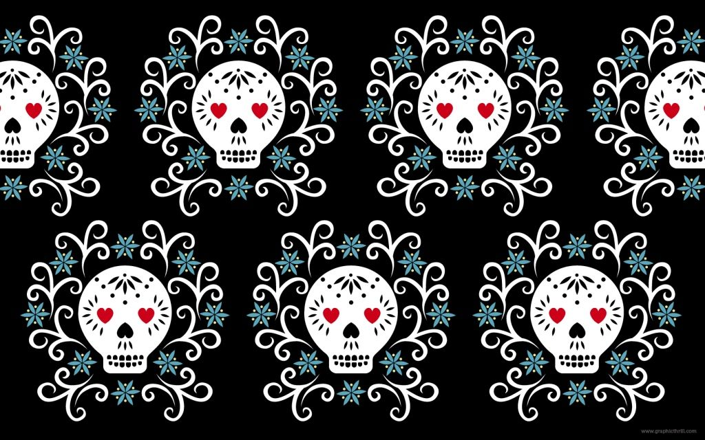 Free Skull Desktop Wallpaper Skull Wallpaper Face Painting Halloween Halloween Labels