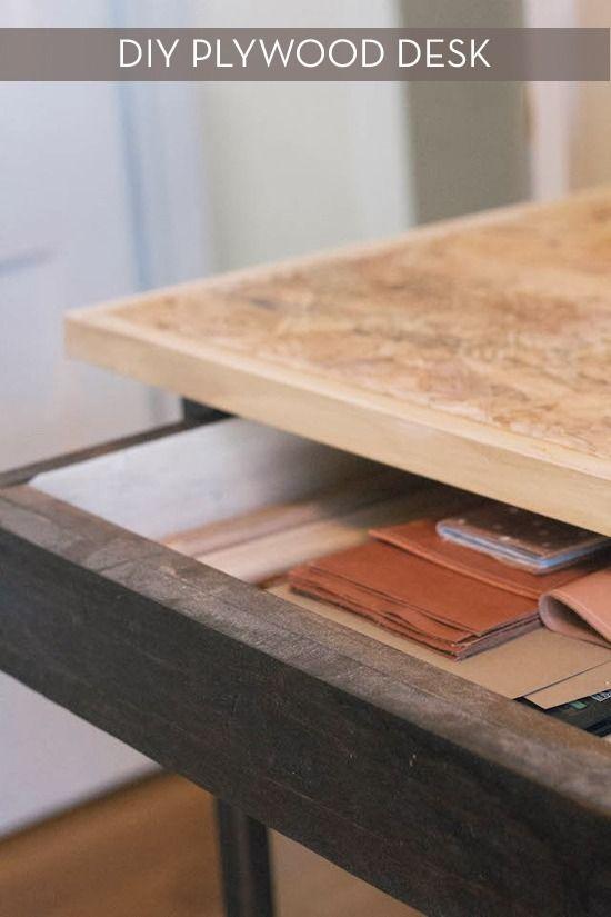 Plywood Desk Design : plywood, design, Design, Modern, Plywood, Desk,, Furniture,