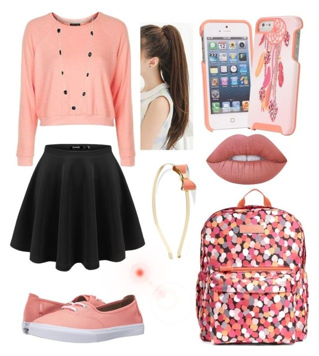 """""""✌️"""" by nikkisfashion273 on Polyvore featuring Vera Bradley, Topshop, Vans, Lime Crime and L. Erickson"""
