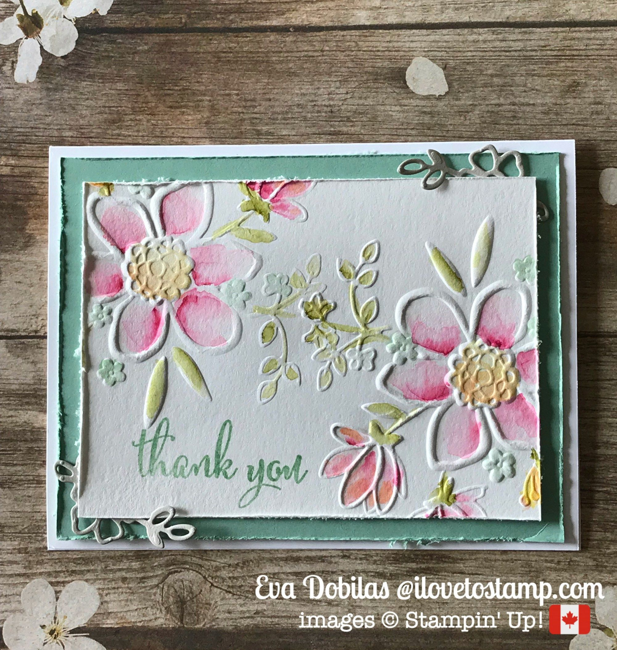 Lovely Floral Watercolor Card Video Tutorial  I Love To