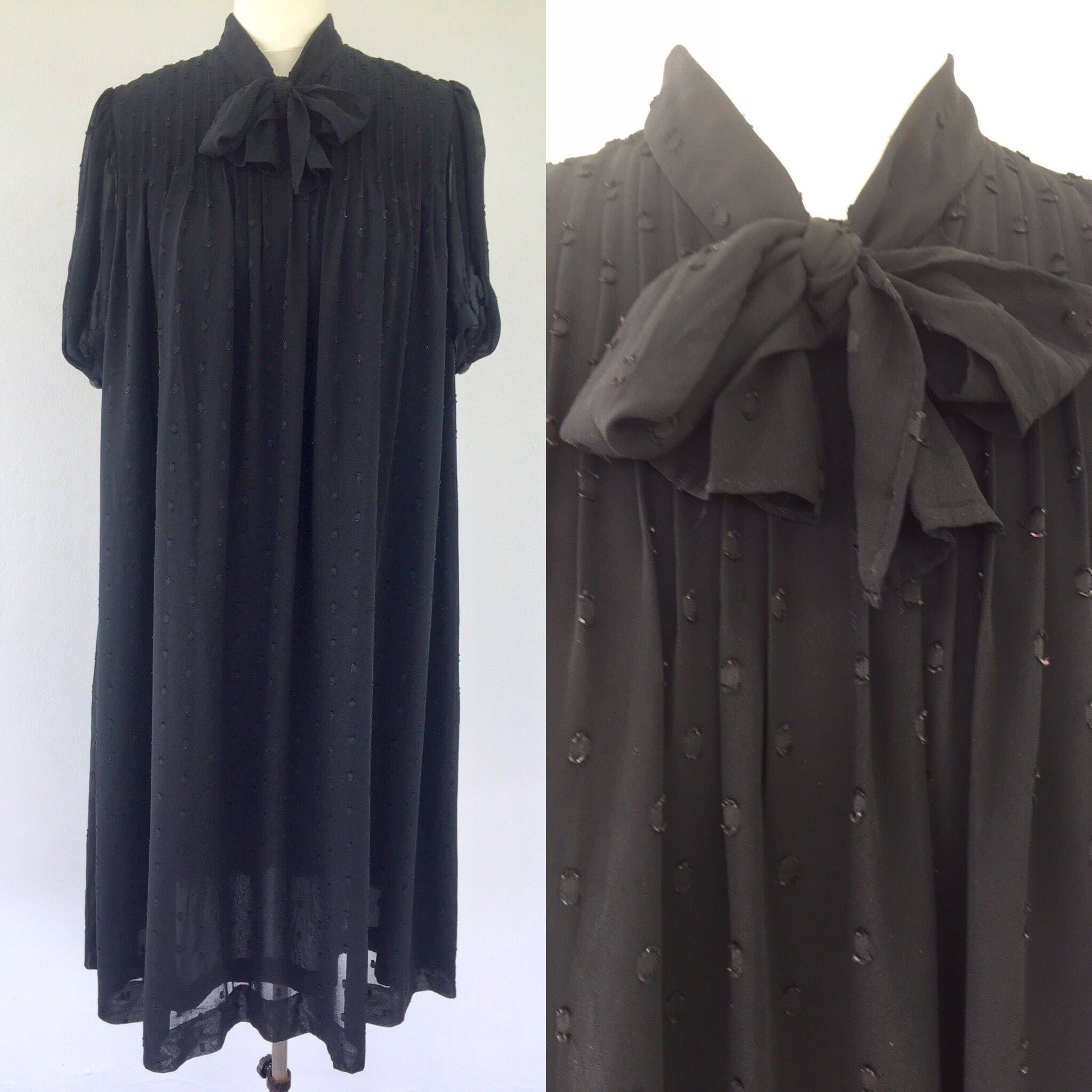 Vintage black maternity dress tent dress vintage chiffon dress maternity dresses ombrellifo Image collections