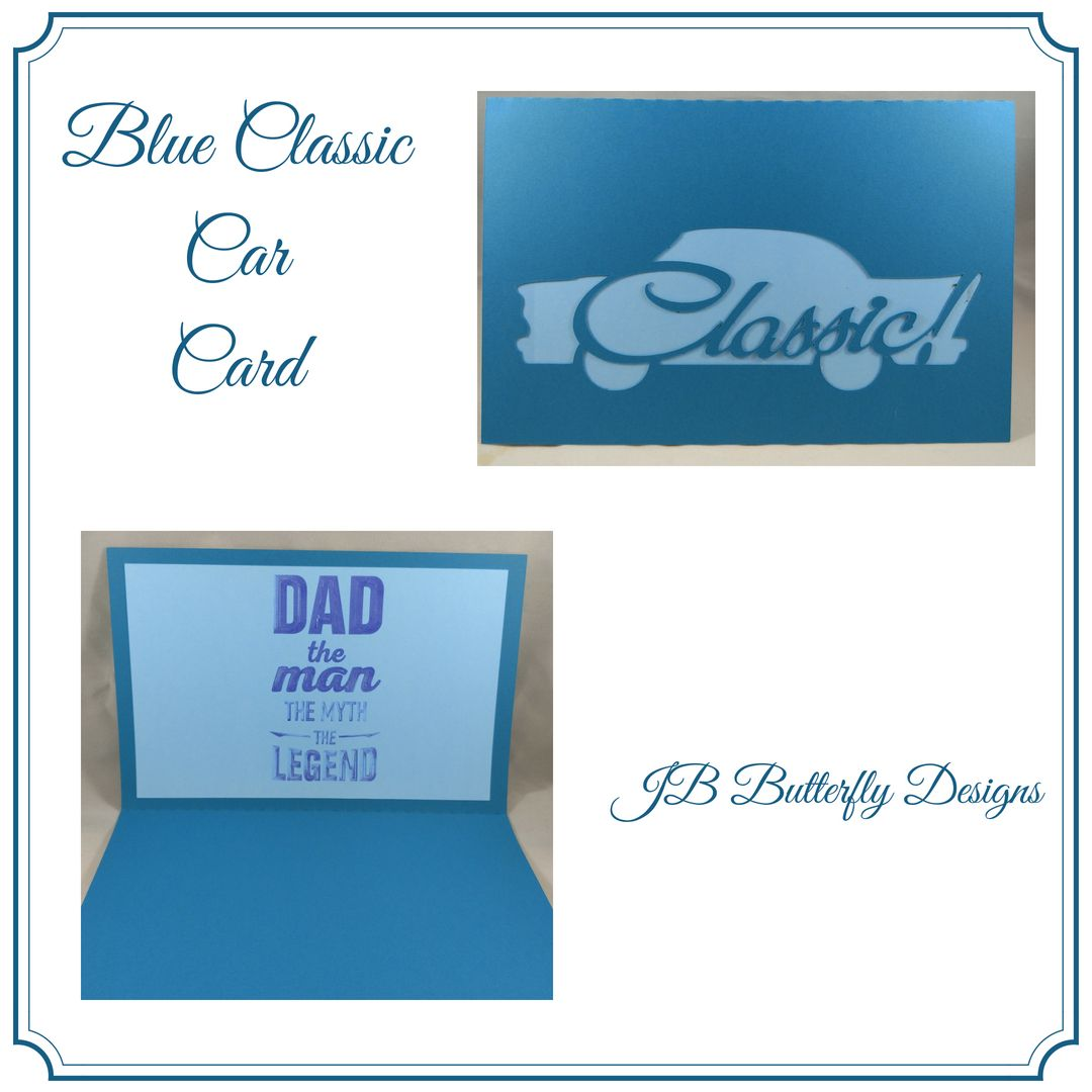 Father's Day Cards, Classic Cars Card, Dad Birthday Card, Card for Dad