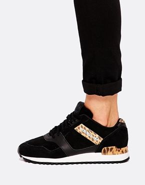 adidas zx 700 trainers in leopard print and black