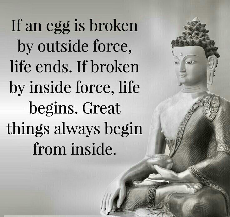 Great Things Always Begin From Inside Buddha Quote Pinterest