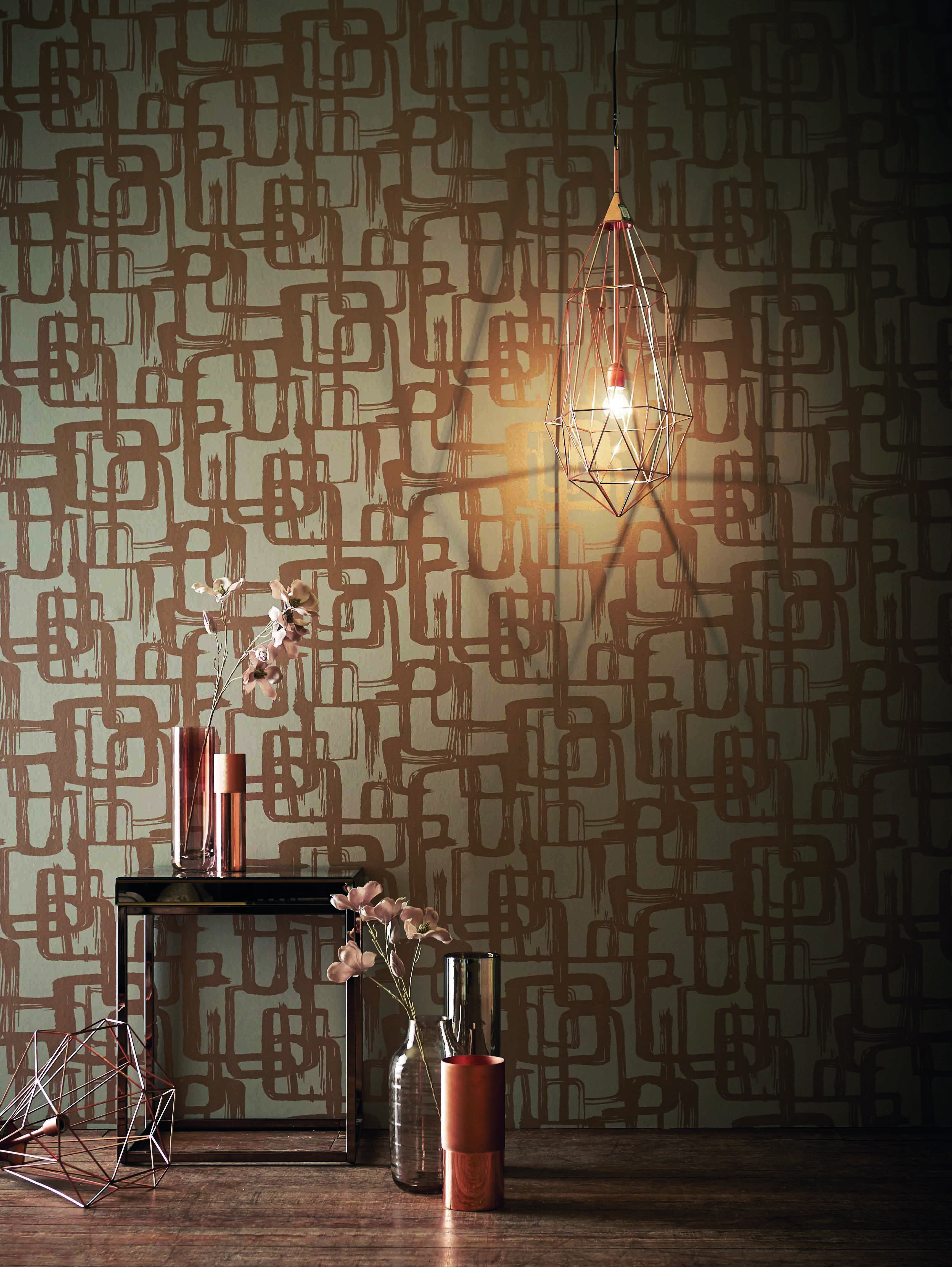 Go Copper Crazy With Harlequin Wallpaper And Co Ordinating Accessories