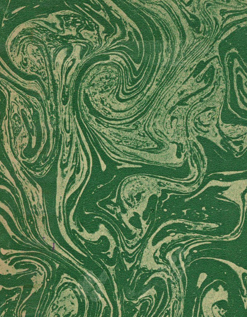 Vintage 19th c. marble paper, Fantasy pattern