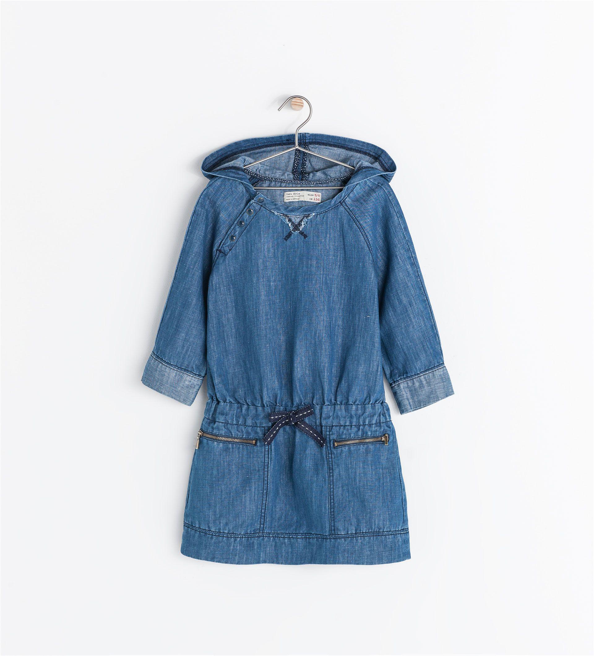 HOODED DRESS - Dresses - Girl (3 - 14 years) - KIDS | ZARA United States